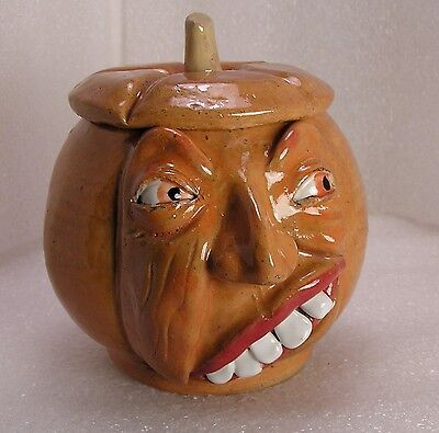 THE TIPSY PUMPKIN - Anthropomorphic Vegetable Face Jug