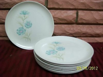 """TAYLOR SMITH & TAYLOR BOUTONNIERE 10"""" PLATES SET OF SIX"""