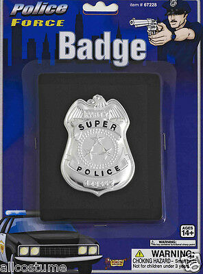 Super Police Badge With Fake Wallet Police Costume Badge FREE USA SHIPPING 67228