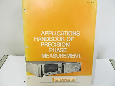 Dranetz Applications Handbook of Precision Phase Measurement