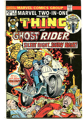 Marvel Two In One 8 Fine+ Thing Ghost Rider (1974) CBX1C