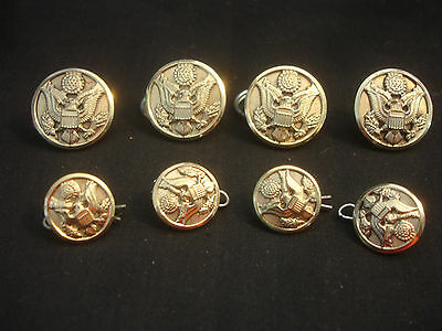 Old Vtg Collectible Gold Tone US USA Military Button LOT Eagle