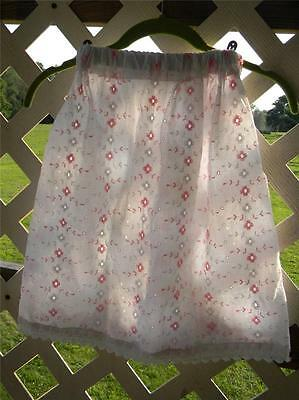 Vintage white & pink eyelet fabric handmade skirt girls toddler small EUC