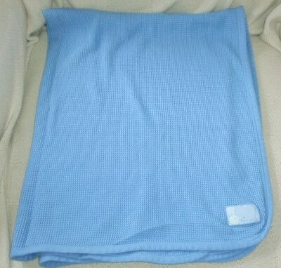 Blue Vintage Carters Baby Flannel Cotton Waffle Weave