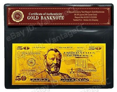 24k GOLD & 999 SILVER Banknotes With COA Certificate of Authenticity Bank Notes