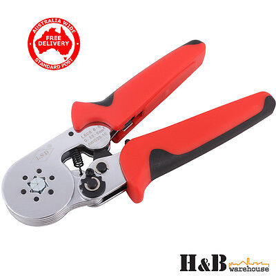 Bootlace Crimper 0.25-6mm²  Hexagonal Terminal  Ferrule Crimping Tool T0033