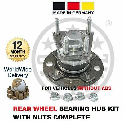 FOR VAUXHALL ASTRA 1.4i 1.4 16V MK 3 CONVER 1991-1998 REAR WHEEL BEARING HUB KIT