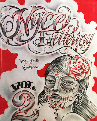 NYCE LETTERING SKETCH BOOK 2 Tattoo Flash Book 251-Pages Lettering Design Supply