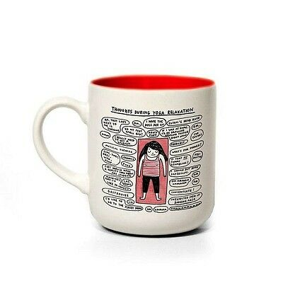 Boxed Ceramic Mug.Yoga,Gemma Correll.Tea/Coffee cup. Home.Gift.Pug. Funny mug