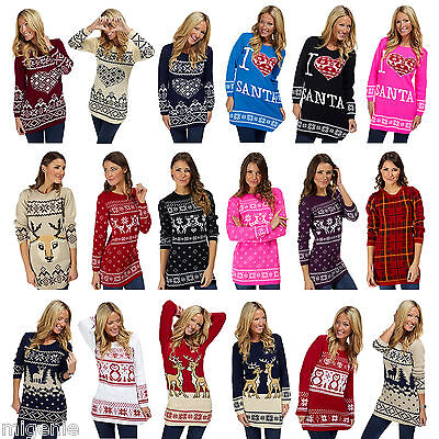Mens Ladies Womens Christmas Xmas Novelty Jumper Sweater Snowman Winter Fairisle