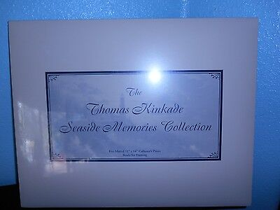 THE THOMAS KINKADE SEASIDE MEMORIES COLLECTION- 5 MATTED PRINTS - SEALED - MINT