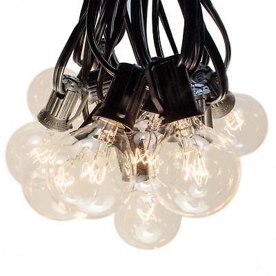 G40 Clear Outdoor Globe Patio String Lights (50', 100' and 25' Lengths)