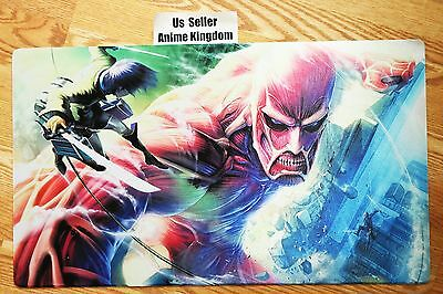 Custom Yugioh Playmat Play Mat Large Mouse Pad Anime Cool Attack of Titan #359
