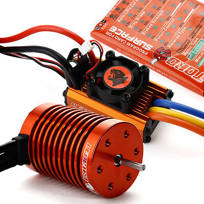 SKYRC Leopard 60A ESC 3000KV 13T Brushless Motor for 1/10 RC Car+Programm-Karte