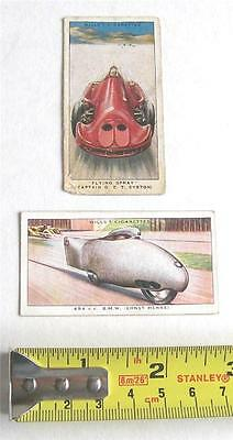 W.D. & H.O. WILLS x2 SPEED CIGARETTE CARDS FROM 1938 SET OF 50
