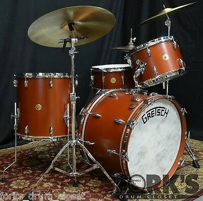 New Gretsch Broadkaster 4pc drum set / Satin Copper Mist / Vintage Build out