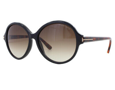 40ce57ead15 NEW Tom Ford FT 0343 05B Milena Black Havana Brown Gradient Sunglasses (NO  CASE)