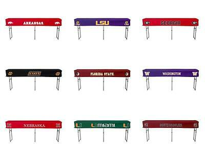 """Choose NCAA Team 104"""" Tailgate Canopy Buffet & Bar Folding Table w/ Fitted Cover"""