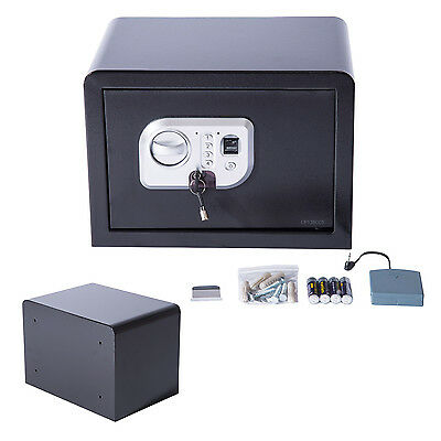 Homcom Fingerprint Electronic Safe Box Security Wall Mount Home Office Hotel