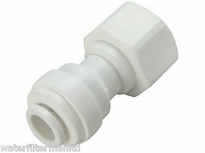 "Garden Tap Connector 3/4"" BSP to 1/4"" Push Fit Water Filter, Fridge, Tap Adapter"