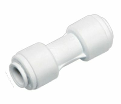 """Fridge Water Pipe Straight Connector 1/4"""" To 1/4"""" With Built In Push Fitting 6mm"""