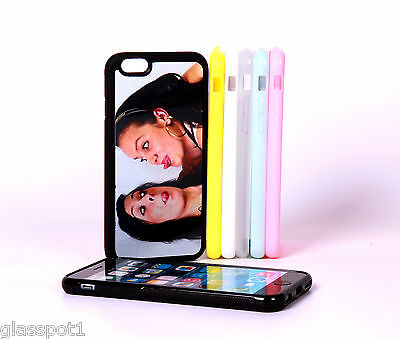PERSONALISED CUSTOM PHOTO & TEXT case cover fit iPhone 6/6S Silicone Soft Rubber