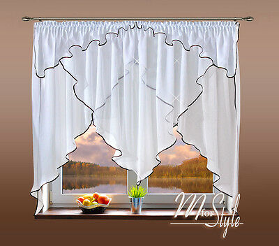 voile net curtain white ready made many sizes