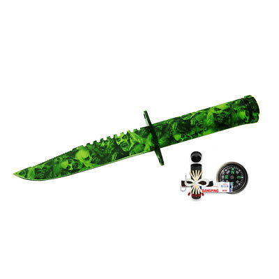 "8.5"" GRN Skull Camo Hunting Survival Tactical  Knife w/ Kit & Sheath Fishing"