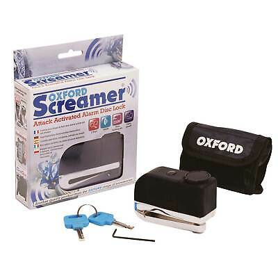 Oxford Screamer Attack Activated Alarm Motorcycle/Motorbike/Scooter Disc Lock