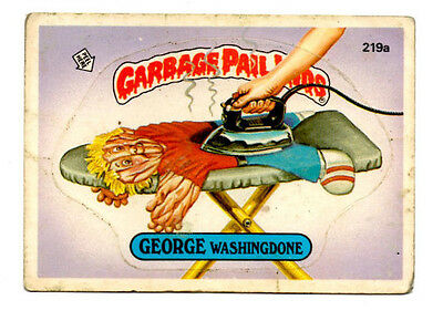 "1986 Topps Garbage Pail Kids card # 219a ""George Washingdone"""