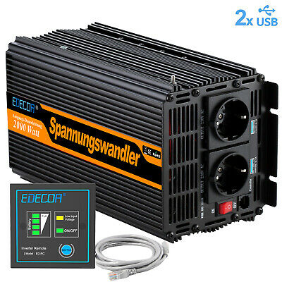 Power Inverter 220V 12V 2000W 4000 watt convertisseur onduleur Softstart Car RV