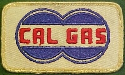 Cal Gas Company on white Twill Patch