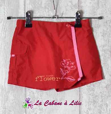 ♥ Jupe Short Rouge Rose Orange 12 Mois ♥ H130