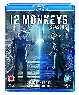 12 MONKEYS Stagione 2 Serie Completa BOX 3 BLURAY in Inglese NEW .cp