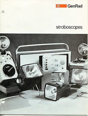 "Vintage ""GENRAD"" Sales Catalog: ""STROBOSCOPES"""