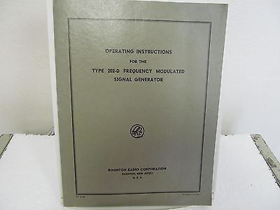 Boonton 202-D Frequency Modulated Signal Generator Operating Instruc Manual