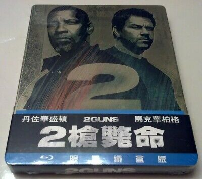 2 Guns STEELBOOK (Blu-ray, Taiwan) ***SEALED*** RARE OOP