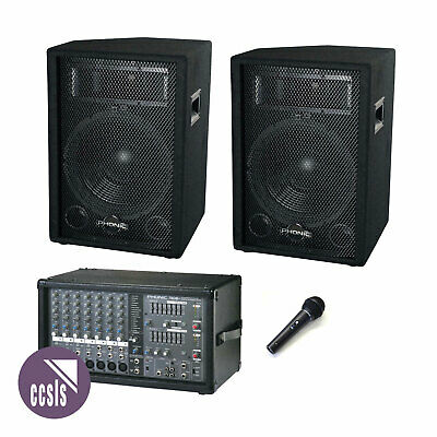 Phonic Powerpod 740 440W 7-Channel Pa System With 12-Inch Speakers