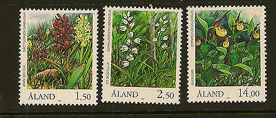 ALAND : 1989 Orchids  SG 36-8 unmounted mint
