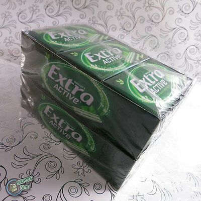 24x14pcs Wrigley's Extra ACTIVE Spearmint Sugarfree Chewing Gum Bulk Box Green
