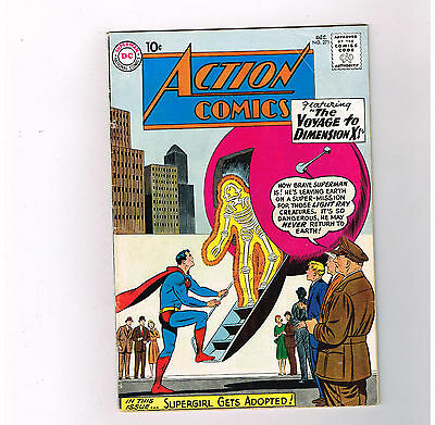 """ACTION COMICS (v1) #271 Grade 6.0 Silver Age DC! """"Journey to Dimension X""""!!"""