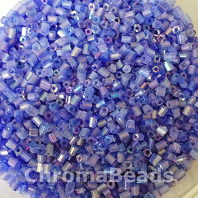 size 11//0 Silver Silver-Lined 2-cut approx 2mm 50g glass HEX seed beads