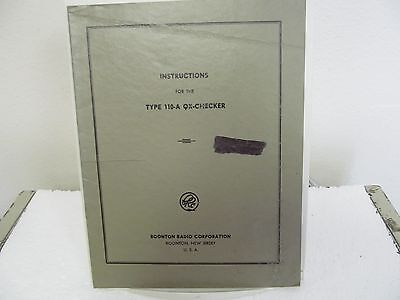 Boonton 110-A QX-Checker Instruction Manual w/schematic