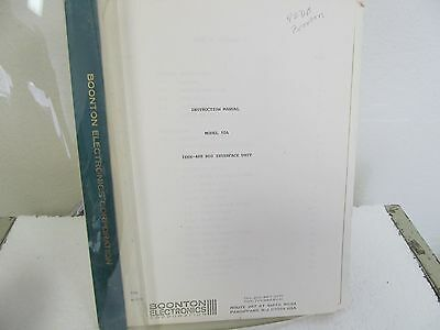 Boonton 10A IEEE-488 Bus Interface Unit Instruction Manual w/schematic