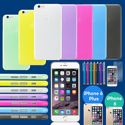For iPhone 6/ 6 plus 0.3mm Ultra Thin Slim Matte Hard Back Clear Case Cover Skin