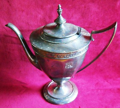 LARGE VINTAGE FORBES SILVER PLATE COFFEE/ TEA POT**NICE ANTIQUE**FREE SHIPPING
