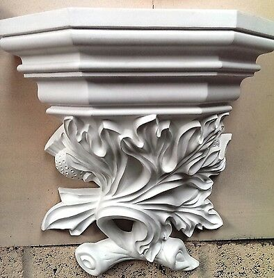 Large Victorian White Hanging Display Holder wall carved display new shelf CR2