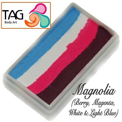TAG Body Art One Stroke Professional Face Paint Cake (30g) ~ Magnolia