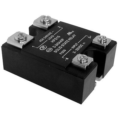 Panel Mount Solid State Relay SSR 4-32VDC 0-380VAC 10A Load with LED Zero Cross