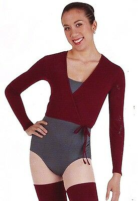 NWT Body Wrappers BALLET #7201 Cotton spandex Long sleeve ladies Wrap Sweater